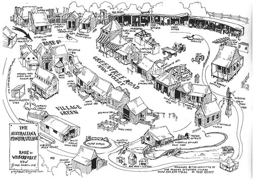 The Australiana Pioneer Village Map